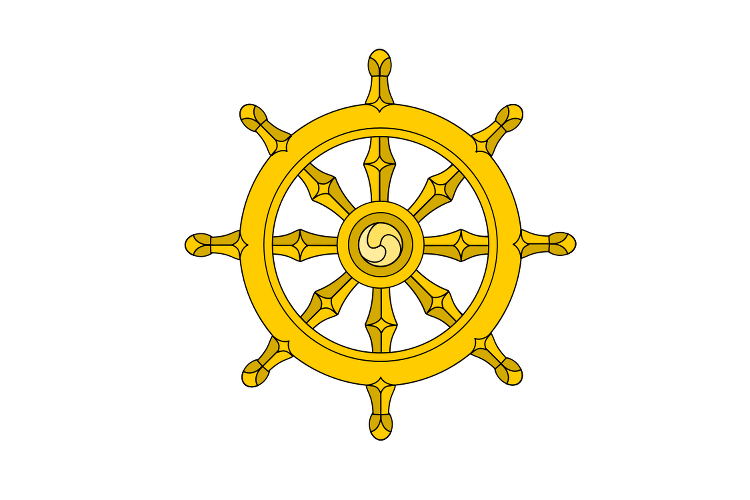 Buddhist Wheel of Life Symbol